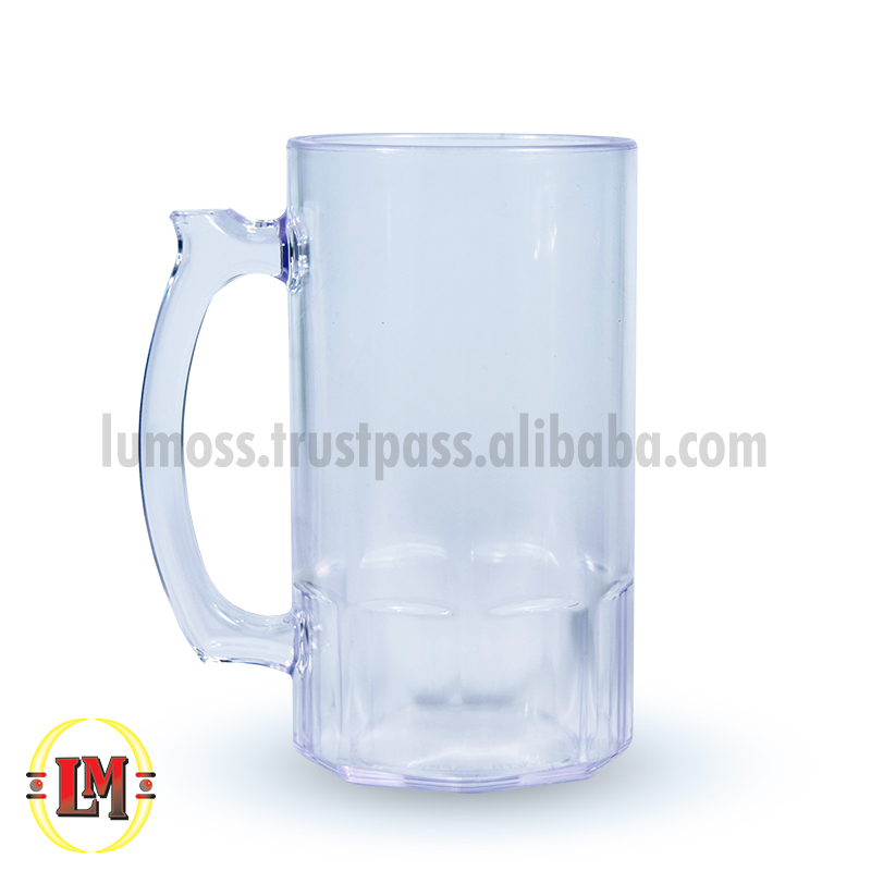 Clear Beer Drinking Glass/Mug - 500ml
