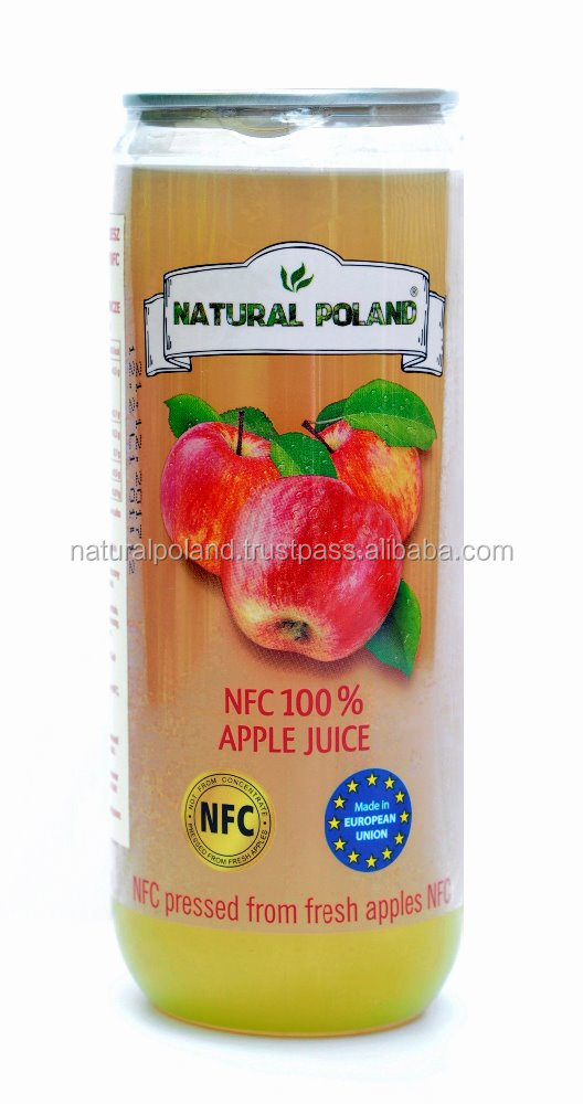 Healthy NFC (not from concentrate) pure apple juice- 0,315 can