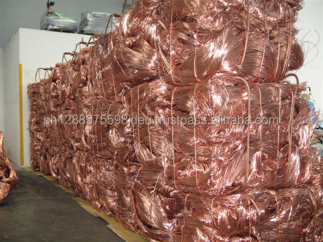 Supply bare bright copper millberry high quality pure 99.99% copper wire scrap for