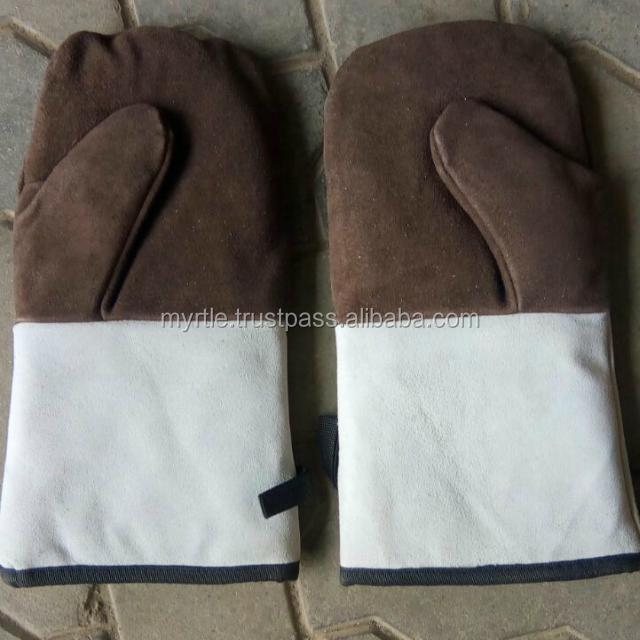 exclusive 100% buffalo leather kitchen oven mittens and gloves