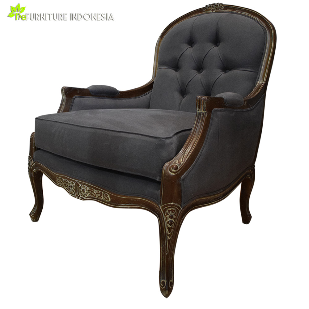 antique single seater wood sofa chairs sectional wood frame sofa with jepara carving furniture