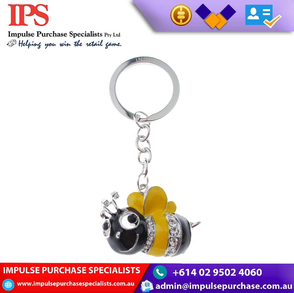 new Honeybee Design High quality promotional and retail PVC Key Chain