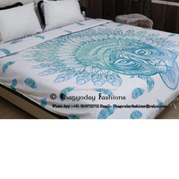 Indian Mandala Handmade African Tiger Duvet Cover 88 x 80 Inch Approx