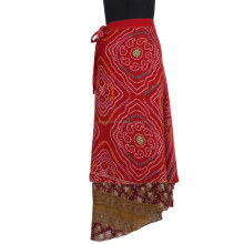 Good Price Slim Beach Wear Wholesale Bohemian/Gypsy/Thai Wrap Skirt For Ladies