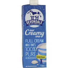 Devondale 100% Pure Full Cream Long Life Milk 1L