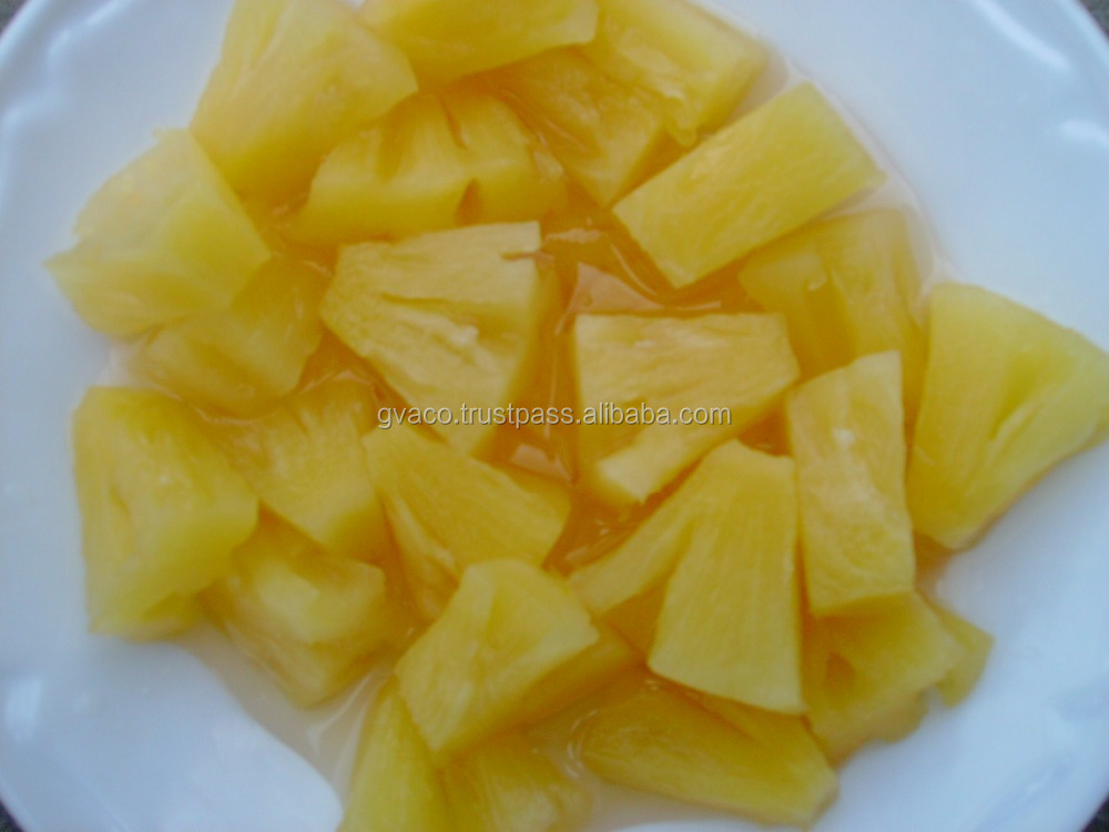 CANNED PINEAPPLE IN SYRUP, SLICE/ CHUNK/ PIECES/ BROKEN _ GVACO