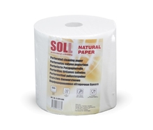 SOLL perforated two layer cleaning paper in roll, 100% cellulose