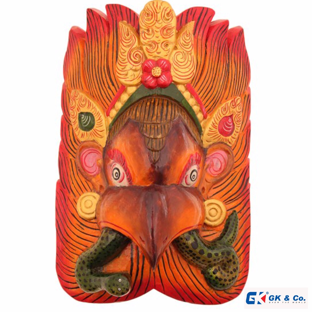 Garuda With Snake Wall Hanging Mask-Wooden mask from Nepal-Best price