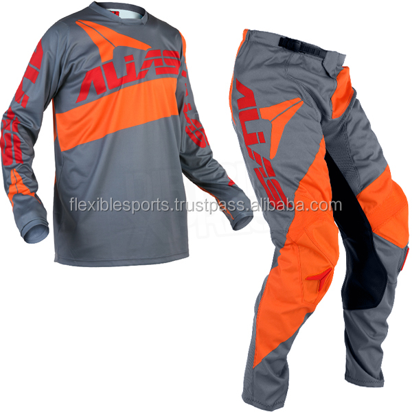 Custom Motocross Pant and Jersey With Neon Sublimation MX Gloves Get your Own Design