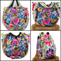 Indian Hand Embroidered Handbag -Kutch Embroidered Shoulder Bag- Indian Tribal Kutchi Work Handbags Tote Bag