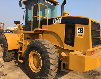 Durable Secondhand Machine original CAT 966F Wheel Loader from Japan in yard for sale