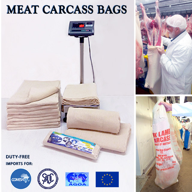 STOCKINETTE MEAT CARCASS WRAP BAGS - BOTSWANA - 0% Import Duty with COMESA