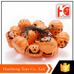 Hot sale plastic barrels pumpkin halloween candy bucket for wholesale