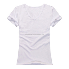 Nice Custom White Basic Women T shirts/OEM hot sale promotional new model cotton t-shirts/T-Shirt made of 100% Cotton