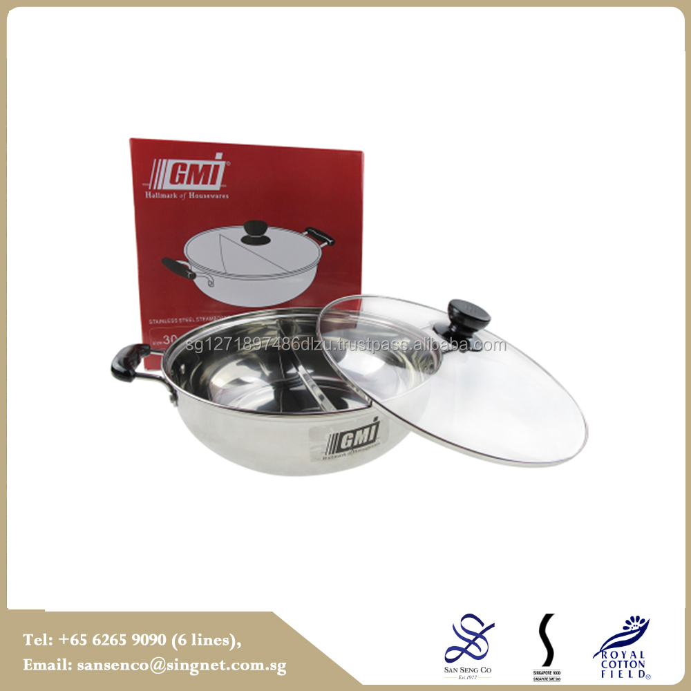 Most popular Standard Steel Double Sided w/2p 30cm SteamBoat Pan Cookware