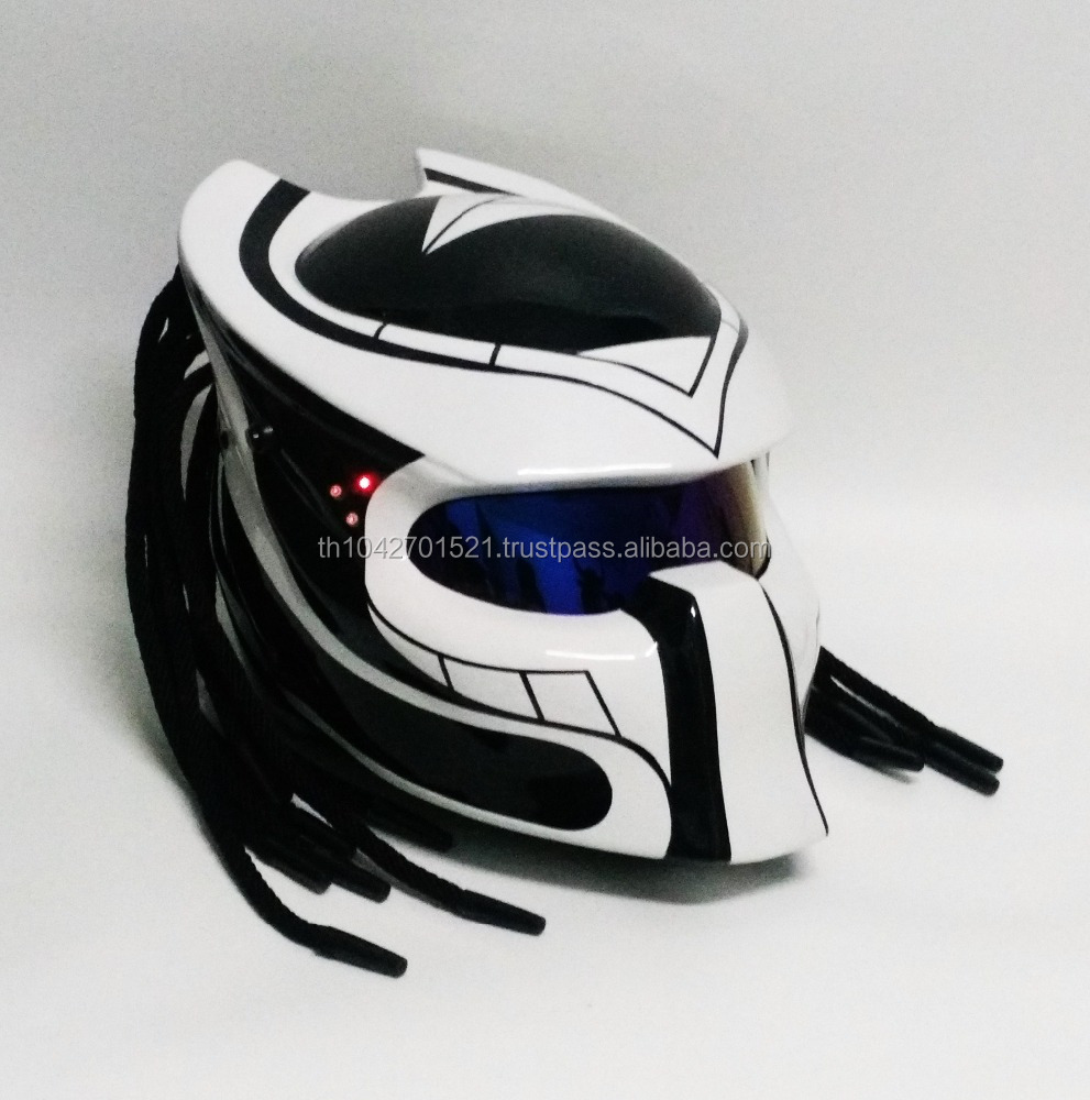 Berserker Predator Motorcycle Helmet Thailand Custom Craft DOT /ECE Approved Black and White
