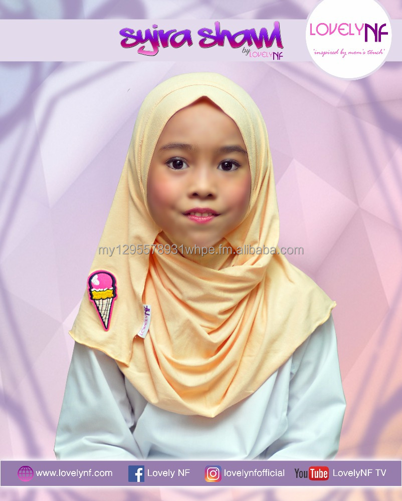 Children EASY and COMFORT to wear shawl [Shira Shawl iCream]