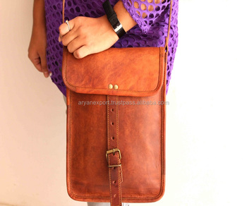 Real goat leather cross body shoulder and sling bag