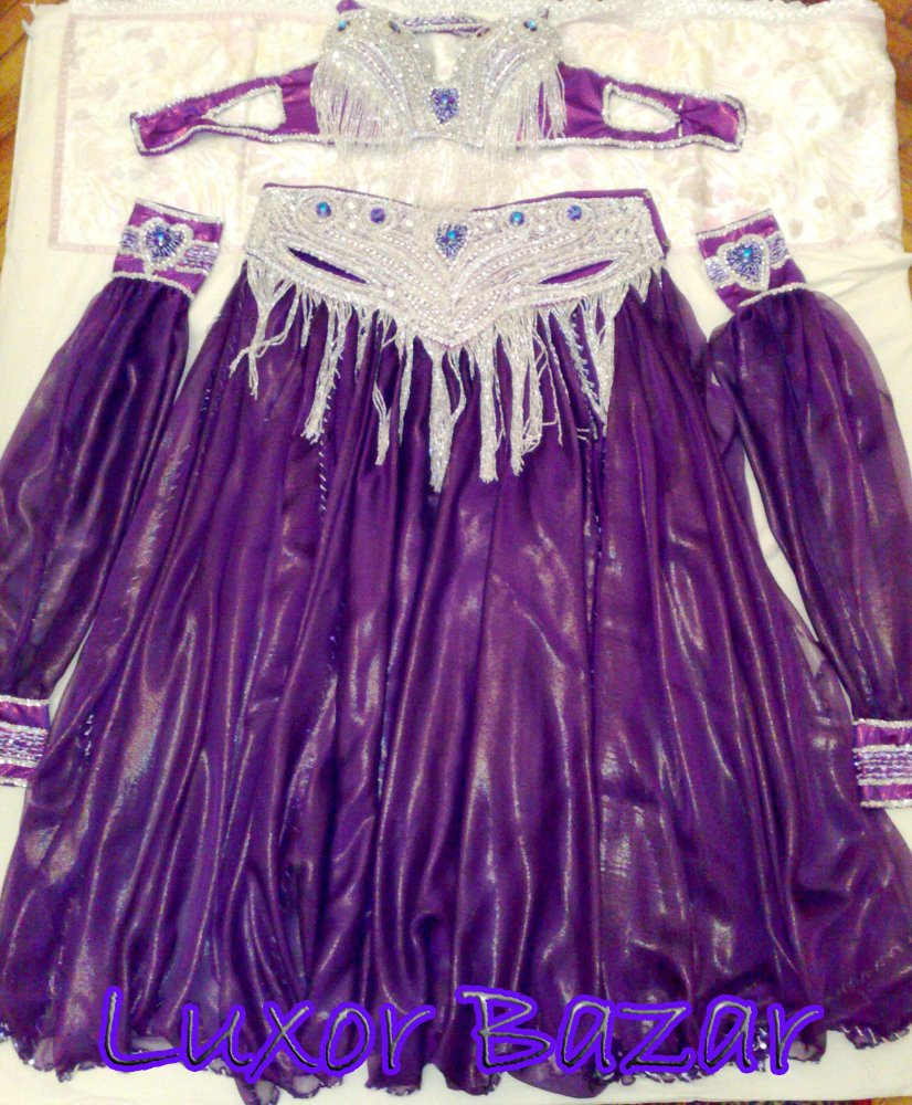 Egyptian PROFESSIONAL BELLY DANCE COSTUME Custom-Made bellydance Dress, hand made belly dancing set (LUX.B.T.1)