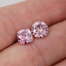 Pink Color Loose Round Excellent cut MOISSANITE Diamond at wholesale price direct from manufacturer