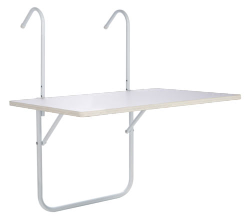 Adjustable Height balcony fold down table and folding deck tables for apartment