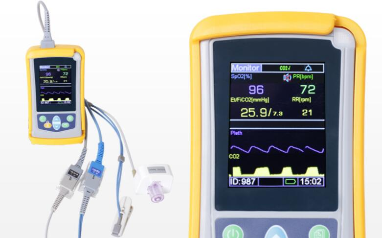 CO2 Monitor Medical UTECH UT100C Portable Capnography Monitor