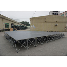 1x1m Acrylic stage platform aluminum frame glass stage sound system for hall