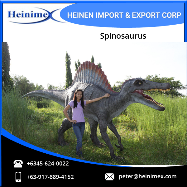 Durable Fiberglass Resin Made Spinosaurus for Amusement Park