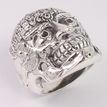 Amazing 925 Pure Sterling Silver Bikers Ring Size US 5,6,7,8,9 and 10 Men's Jewelry New Fashion