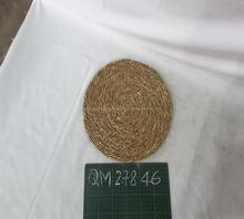 Top cheap price wicker tableware 100% hand woven seagrass placemats long time using rattan hamster mat
