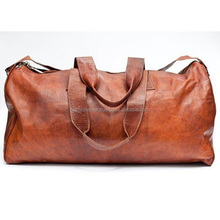 travel leather duffel bag / duffle bag