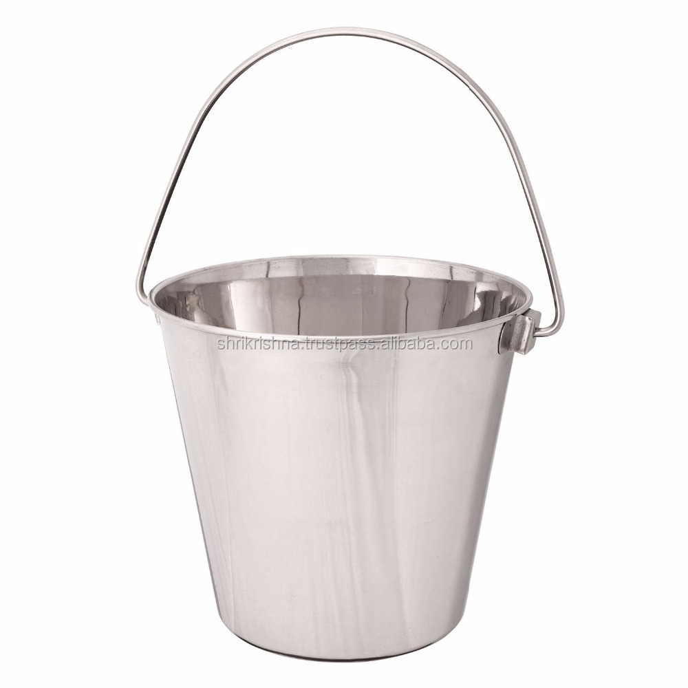 Heavy duty stainless pail