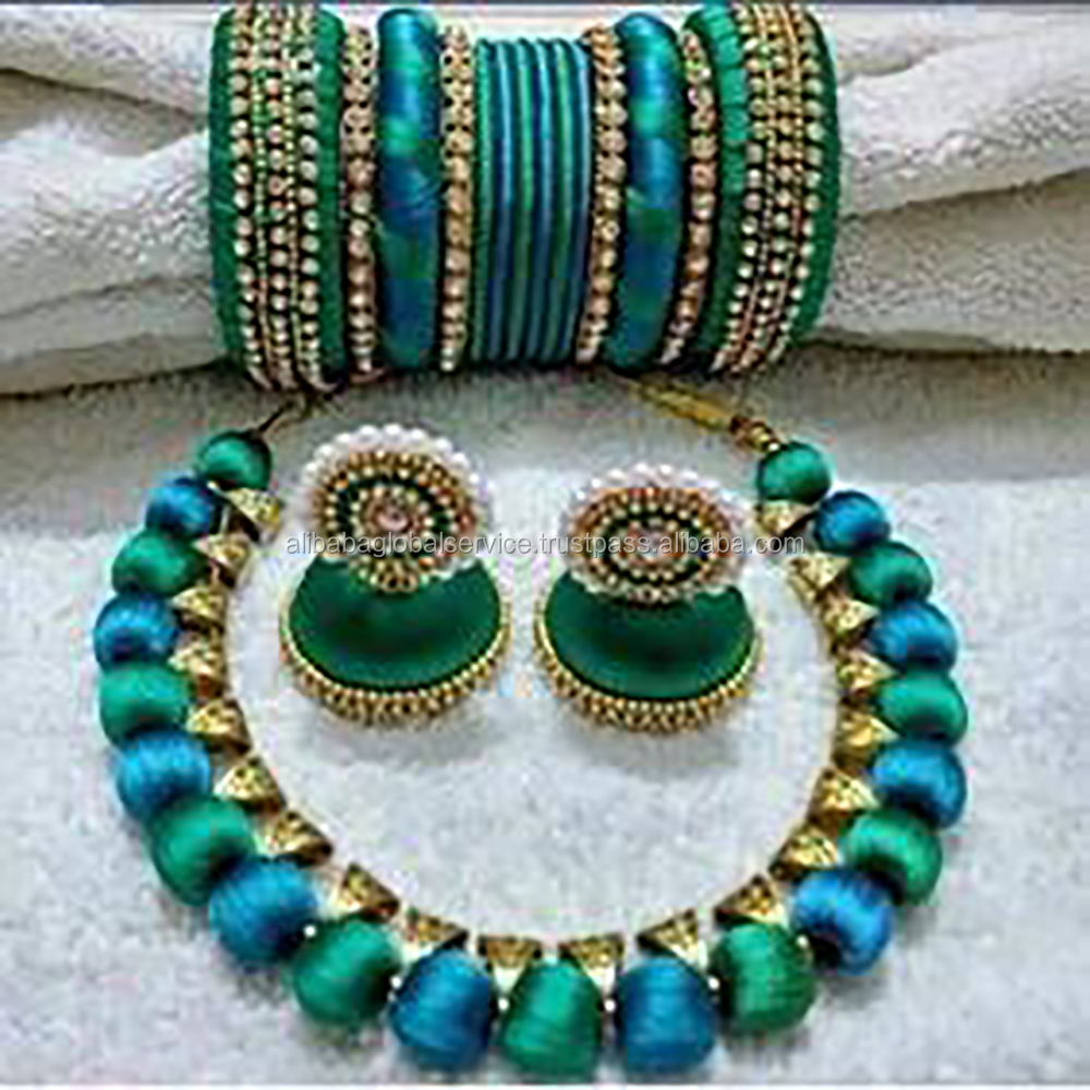 Silk Thread Fashionable Jewelry Designs