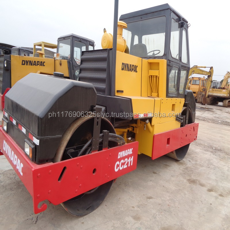 Double drum road roller cc211 dynapac vibration roller from Sweden