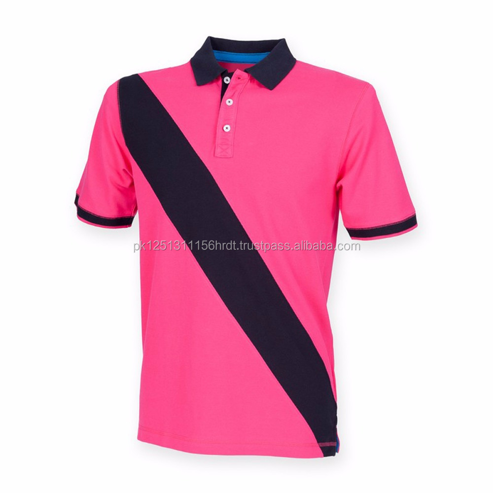 Men's Front Row Diagonal Stripe House Polo Neck Collar 100% Cotton Rugby Shirt