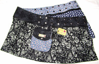 2016 Best Selling chilly grapes elegant paisley pattern skirt, wholesale, reversible