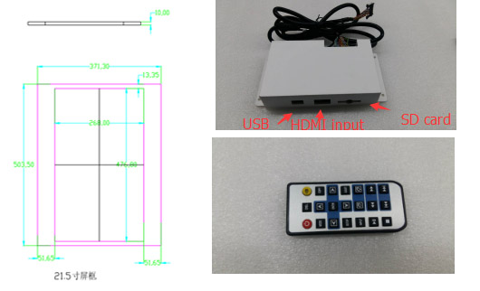 21.5Transparent LCD panel with touch screen