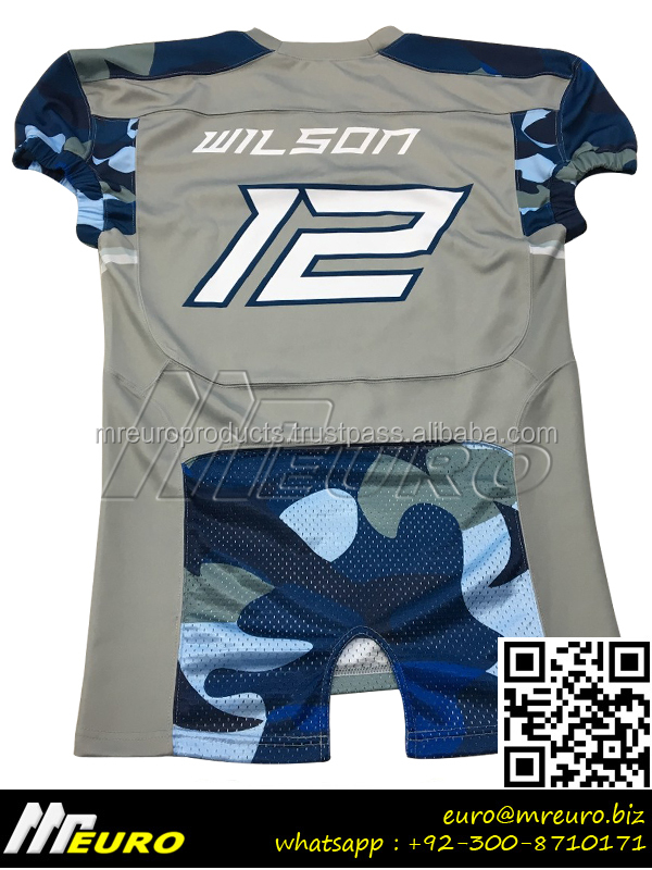 Sami Camo Sublimated American Football Jersey