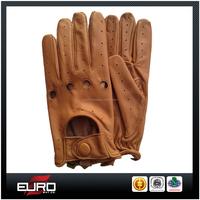 Fashion ladies genuine leather mittens summer driving gloves