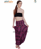 Harem Pants Hippie Boho Pants Gypsy Women Harem Indian Pants Cotton Baggy Yoga Afagani Geni Aladdin Trousers