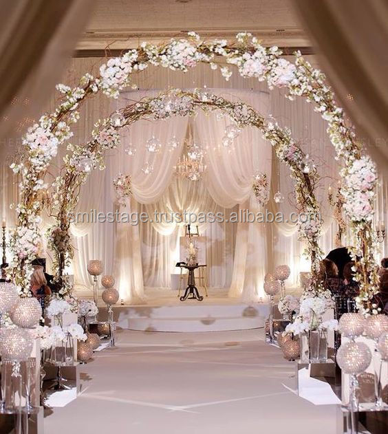 Indian mandap /carved wooden wedding mandap /white drapes for weddings