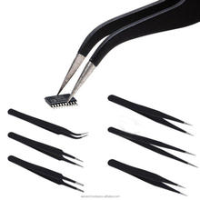 Eyelash fine point tweezers eyebrow tweezers curved point extra fine point tweezers model 7 NO 3 C