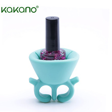 New Products 2018 Free Samples FDA Approved Silicone Nail Polish Bottle Holder