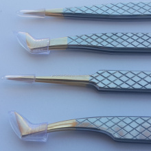New Stainless Steel Diamond Grip Eyelash Tweezers
