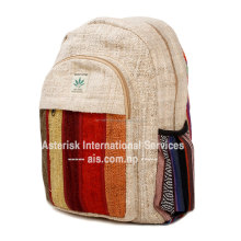 Milke Hemp Backpack / Handmade Nepal School College Shoulder Bag / Bookbags / Daypack with Laptop Sleeve