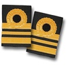2 bar 1 half military Epaulette /pilot navy shoulder rank/Army navy slider with curl uniform epaulette
