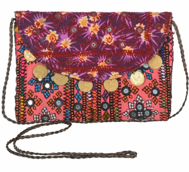 Indian wholesale handmade embroidered banjara ladies sling bag women fashion handbag