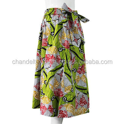 African Women Flared Long Skirt Ankara Wax Fabric African Traditional wax belt Skirt Maxi Hippie High Waist Skater short Skirt