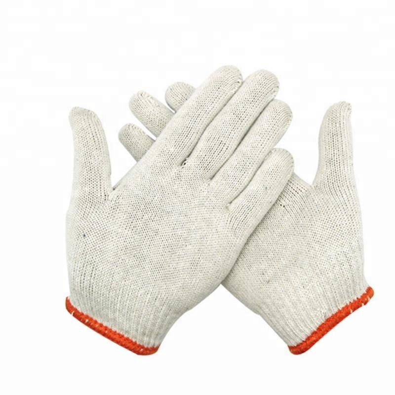 Best Quality Cheap Western Safety Gloves cotton cloth working glovespoly cotton knitted gloves work gloves