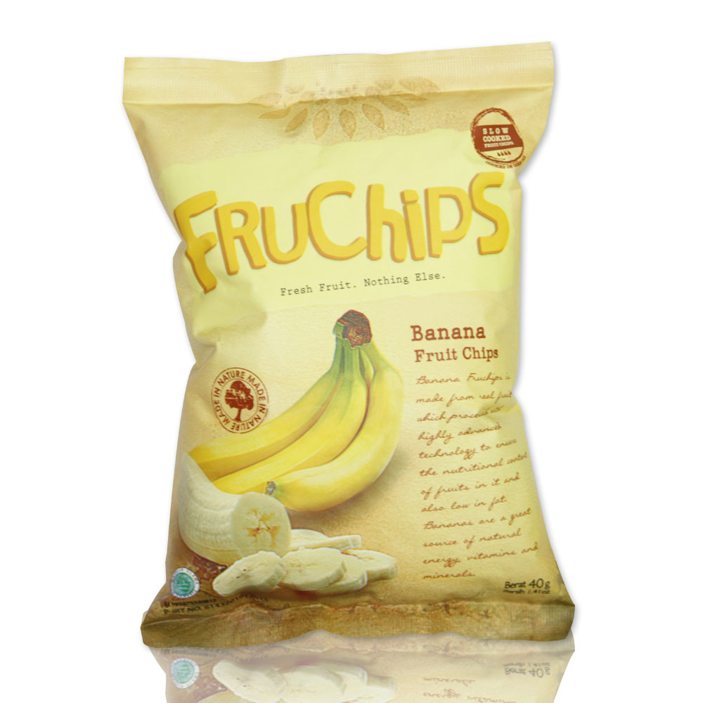 Healthy Snack FRUCHIPS Fruit Chips Banana Flavour Organic Fruit GPM004